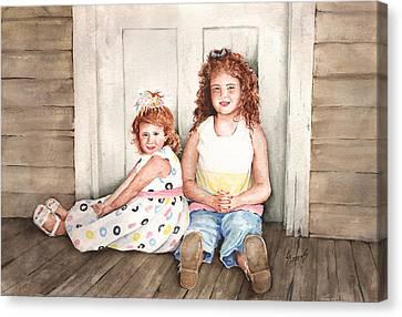 Sayler And Tayzlee Canvas Print by Sam Sidders