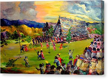 Canvas Print featuring the painting Sbiah Baah by Jason Sentuf