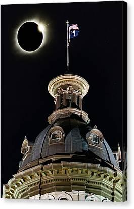 Sc Eclipse Statehouse 2 Canvas Print