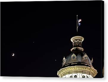 Sc State House Dome And Conjunction Canvas Print