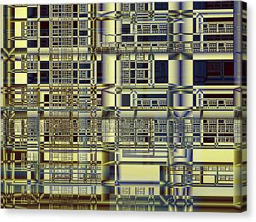 Canvas Print featuring the digital art Scaffolds by Richard Ortolano