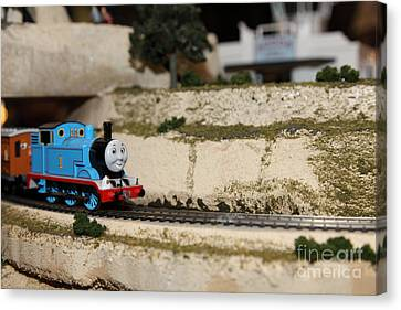 Scale Model Trains 5d21876 Canvas Print by Wingsdomain Art and Photography