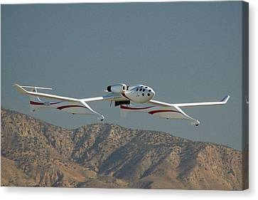Scaled Composites White Knight Canvas Print by Brian Lockett