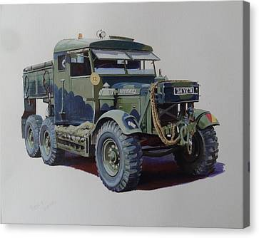 Scammell Pioneer Wrecker. Canvas Print by Mike  Jeffries