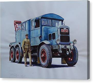 Scammell Wrecker. Canvas Print by Mike Jeffries
