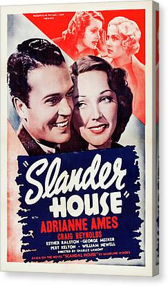 Scandal House 1938 Canvas Print