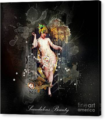 Scandalous Beauty Canvas Print by Monique Hierck