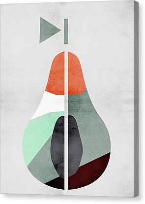 Scandinavian Art Pear Fruit Canvas Print