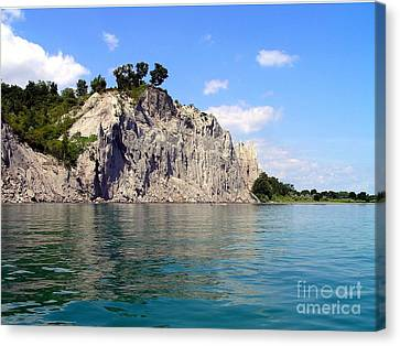 Canvas Print featuring the photograph Scarborough Bluffs-lake View by Susan  Dimitrakopoulos
