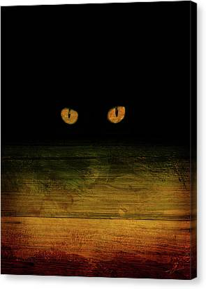 Scare-d-cat Canvas Print by Shevon Johnson