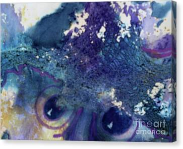 Canvas Print featuring the painting Scarecrow Eyes by Kathy Braud