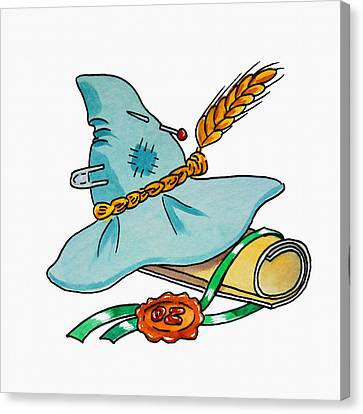 Scarecrow Hat From Wizard Of Oz Canvas Print