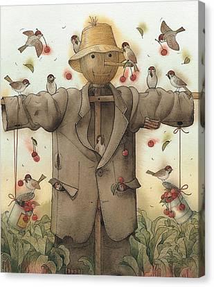 Scarecrow  Canvas Print by Kestutis Kasparavicius