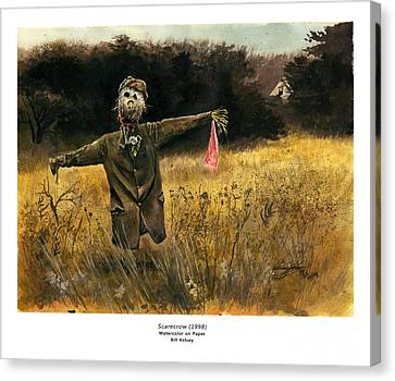 Scarecrow Canvas Print by William Kelsey