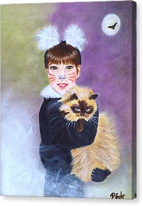 Scaredy Cat Hallows Eve Canvas Print by Dr Pat Gehr