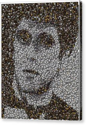 Canvas Print featuring the mixed media Scarface Coins Mosaic by Paul Van Scott