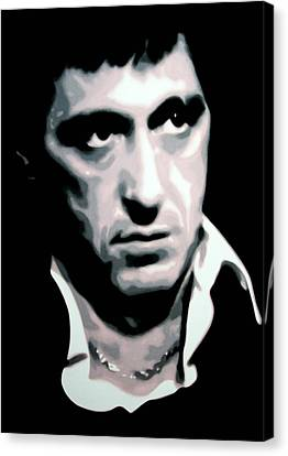 Scarface Canvas Print by Luis Ludzska