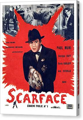 Scarface, Paul Muni, 1932 Canvas Print by Everett