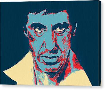 Scarface Pop Art Canvas Print by Dan Sproul