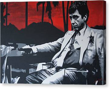 Scarface - Sunset 2013 Canvas Print by Luis Ludzska