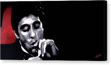 Michael Corleone Canvas Print - Scarface Widescreen by Hood alias Ludzska