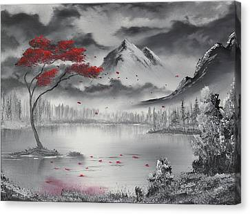Bob Ross Canvas Print - Scarlet Breeze by Adam Morris