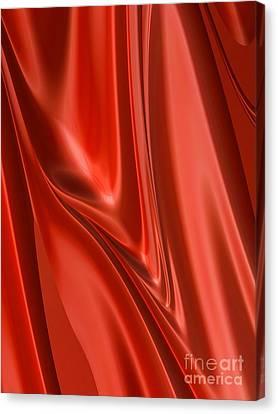 Scarlet Flow Canvas Print