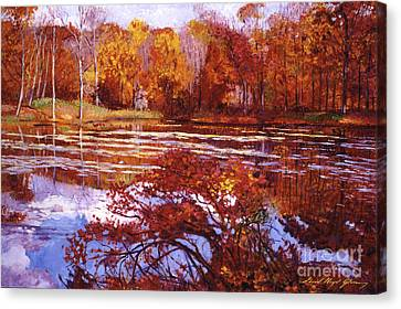 Scarlet Maples Canvas Print by David Lloyd Glover