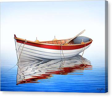 Scarlet Reflections Canvas Print