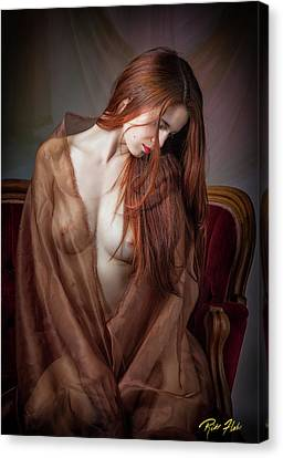 Canvas Print featuring the photograph Scarlet Repose by Rikk Flohr