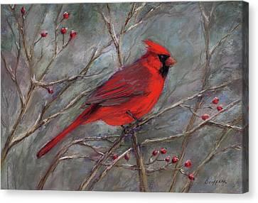 Scarlet Sentinel Canvas Print