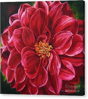 Scarlet Stunner Canvas Print by Helen Shideler