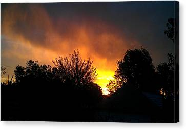 Scarlet Sunrise Canvas Print