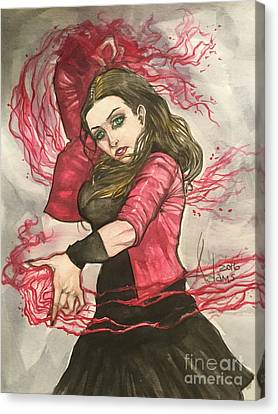 Scarlet Witch  Canvas Print by Jimmy Adams