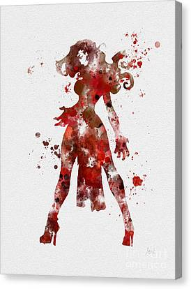 Scarlet Witch Canvas Print by Rebecca Jenkins