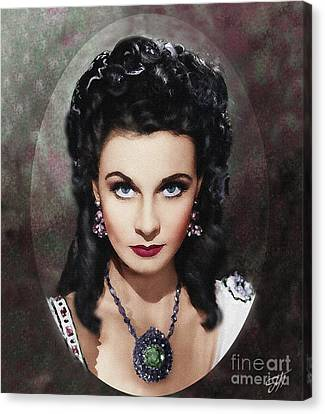 Scarlet's Portrait Canvas Print