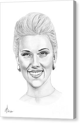 Scarlett-johansson Canvas Print by Murphy Elliott