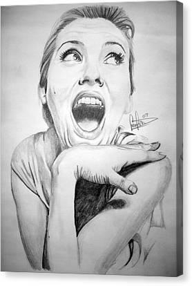 Celeb Canvas Print - Scarlett Johansson by Sean Leonard