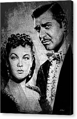 Scarlett O Hara And Rhett Butler Canvas Print by Andrew Read