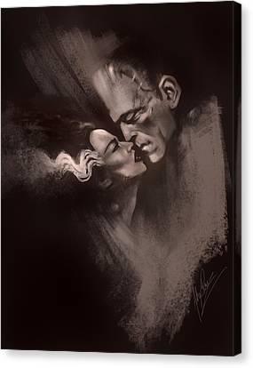 Scarred Lovers Canvas Print by Alex Ruiz