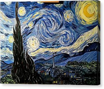 Starry Night Canvas Print by Ctirad Matyas