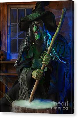 Scary Old Witch Canvas Print