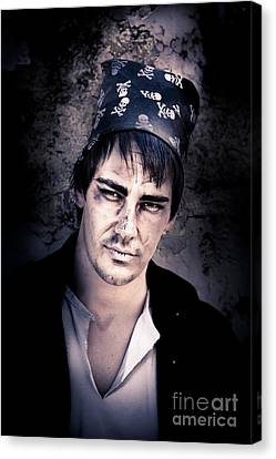 Scary Pirate Portrait Canvas Print by Jorgo Photography - Wall Art Gallery