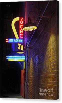 Canvas Print featuring the photograph Scat Jazz Lounge 2 by Elena Nosyreva