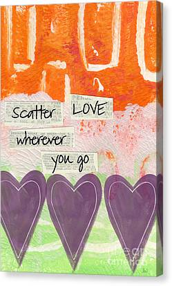 Scatter Love Canvas Print by Linda Woods