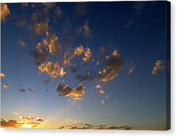 Scattered Clouds At Sunset Canvas Print by Paul Cutright