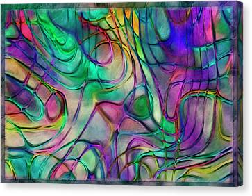 Scattered Rainbow Canvas Print by Jack Zulli