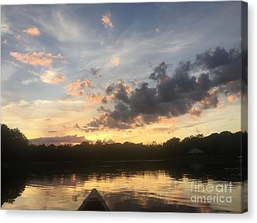 Scattered Sunset Clouds Canvas Print