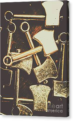 Industrial Concept Canvas Print - Scattering Axes by Jorgo Photography - Wall Art Gallery