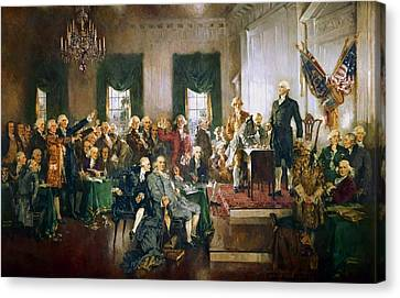 Scene At The Signing Of The Constitution Canvas Print by Howard Chandler Christy